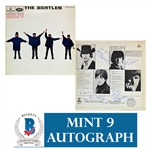 "The Beatles Extraordinary Complete Group Signed ""Help!"" UK Record Album - One of only TWO Known to Exist! (Beckett/BAS Graded MINT 9)"