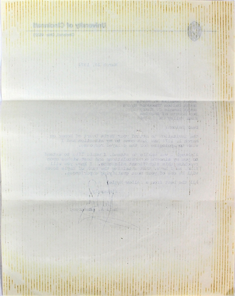 Apollo 11: Neil Armstrong Signed Typed 1974 Letter (Beckett)