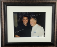 "Mickey Mantle & Muhammad Ali Rare Dual Signed 11"" x 14"" Color Photo Display (JSA)"