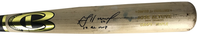Jose Altuve Game Used 2018 Coopertown CBAP5-Maple Baseball Bat (Mears & PSA/DNA Guaranteed)