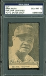 "Babe Ruth Exceptionally Fine Signed 2"" x 3"" Photo Cut - PSA/DNA Graded GEM MINT 10!"