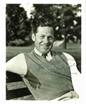 "Bobby Jones Ultra Rare Superb Signed & Inscribed 8"" x 10"" B&W Portrait Photograph (BAS/Beckett)"