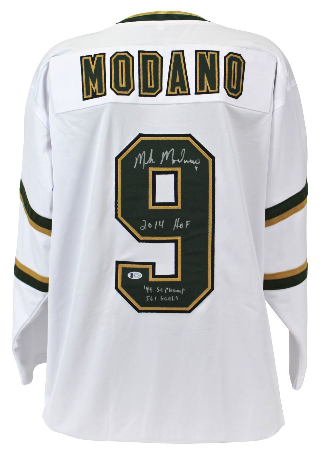 info for aa4ba 5479e Lot Detail - Mike Modano Signed Minnesota North Stars Jersey ...
