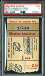 "1954 World Series Game 1 Ticket Stub - Willie Mays Makes ""The Catch""!"