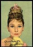 "Audrey Hepburn Beautiful Signed 4"" x 5.75"" Color Italian Postcard Photograph (JSA)"