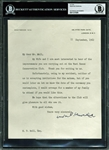 Winston Churchill Signed 1962 Typed Letter (Beckett/BAS Encapsulated)