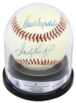 Sandy Koufax & Don Drysdale Dual-Signed ONL (White) Baseball (Beckett/BAS Encapsulated)