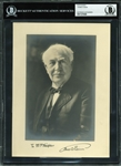 "Thomas Edison Exquisite Signed 7"" x 9.75"" Cabinet Photograph (Beckett/BAS)"