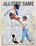 1971 All Stars Multi-Signed Official Game Program w/ 40+ Signatures incl. Thurman Munson (JSA)
