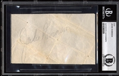 "Jackie Robinson Vintage Signed 3"" x 5"" Album Page (Beckett/BAS Encapsulated)"