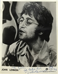 "John Lennon Exceptional Signed ""Lost Weekend"" 1974 Capitol Records 8"" x 10"" Photograph w/ Sketch! (Beckett/BAS Guaranteed)"
