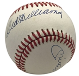 Unique Mickey Mantle, Joe DiMaggio, and Ted Williams Multi-Signed OAL Baseball (PSA/DNA)