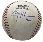 Clayton Kershaw Game Used & Signed 2018 NLDS Baseball Pitched To Freddie Freeman! (MLB & PSA/DNA)