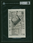 "President Donald Trump Signed 5"" x 8.5"" Mock 2005 Tax Return Document (Beckett/BAS Encapsulated)"