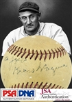 Honus Wagner Rare & Desirable Single Signed ONL Baseball (PSA/DNA & JSA)