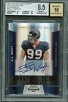 JJ Watt Signed 2011 Playoff Contenders Rookie Card - BGS 8.5 w/ 10 Auto!