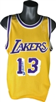 Wilt Chamberlain Rare Signed Los Angeles Lakers Jersey (PSA/DNA)