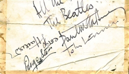 "The Beatles Vintage Group Signed Album Page w/ All Four Members & RARE ""The Beatles"" Inscription By McCartney! (BAS/Beckett)"