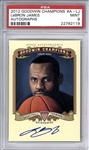 LeBron James Signed 2012 Upper Deck Goodwin Champions Autographs Card - PSA Graded MINT 9!