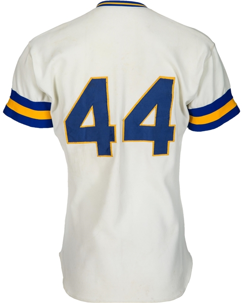 Hank Aaron Game Used/Worn 1976 Milwaukee Brewers Jersey (Brewers LOA)