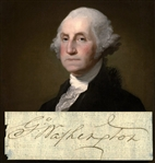 "President George Washington Exceptional Signed 2.25"" x 4.5"" Document Clipping (Beckett/BAS)"