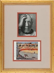 "Pablo Picasso Signed ""La Corrida"" Postcard in Framed Display (Beckett/BAS)"
