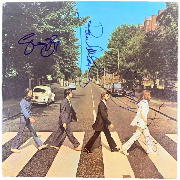 The Beatles Exceptionally Rare Group Signed Abbey Road U.S. Record Album Cover - Only Non-Personalized Signed Copy Known to Exist! (REAL/Epperson, Cox & Caiazzo)