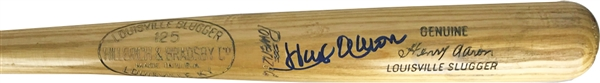 Hank Aaron Game Used & Signed 1955-57 R43 Baseball Bat (MEARS A-7)