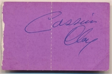 Cassius Clay Vintage Signed Liston vs. Patterson II 1963 Fight Ticket That Set Up Ali/Liston Super Fight! (JSA)