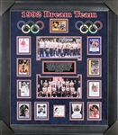 1992 USA Dream Team Signed Custom Basketball Card Display w/ 13 Sigs (Beckett/BAS)