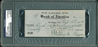 Tony Lazzeri Handwritten & Signed Bank Check (PSA/DNA Encapsulated)