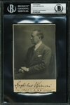 "Nobel Prize Winner Guglielmo Marconi Rare Signed 3.5"" x 5.5"" Portrait Photograph (BAS/Beckett Encapsulated)"