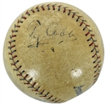 RARE Vintage Ty Cobb Signed OAL Reach (Johnson) Baseball c. 1926-27 (JSA)