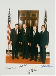 "Four Presidents: Ronald Reagan, Richard Nixon, Jimmy Carter & Gerald Ford Rare Signed Over-Sized 11"" x 14"" Photograph (PSA/DNA)"