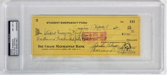 Jackie Robinson Rare Signed 1962 Bank Check to Student Emergency Fund (PSA/DNA Graded NM-MT 8)