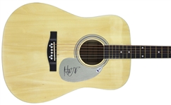 The Rolling Stones: Mick Jagger Superb Signed Acoustic Guitar (BAS/Beckett)
