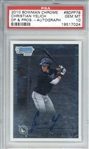 Christian Yelich Signed 2010 Bowman Chrome Rookie Card (PSA GEM MINT 10)