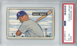 Mickey Mantle 1951 Bowman #253 Original Rookie Card w/ Great Centering! (PSA 4)