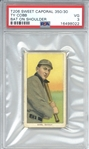Ty Cobb T206 Sweet Caporal 350/30 Bat on Shoulder Baseball Card (PSA 3)
