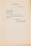Orville Wright Near-Mint Signed 1938 Typed Letter (Beckett/BAS Guaranteed)