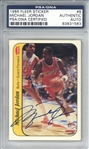 Michael Jordan Signed 1986 Fleer Sticker #8 Rookie Card (PSA/DNA)