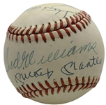 500 Home Run Club Signed OAL Baseball w/ Mantle/Williams Sweet Spot! (JSA)