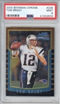 Tom Brady 2000 #236 Bowman Chrome Quintessential Rookie Card (PSA 9)
