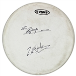 The Beatles: Ringo Starr & Zak Starkey Rare Dual-Signed Evans Drumhead (REAL/Epperson & Tracks)