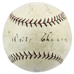 RARE Walter Johnson Single Signed Reach OAL (Ban Johnson) Baseball c. 1927 (JSA)