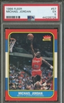 1986 Fleer Michael Jordan #57 Rookie Card :: Superb Centering :: PSA Graded EX 5