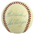 Gil Hodges Rare Single Signed ONL (Feeney) Baseball (PSA/DNA)