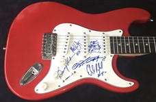 AC/DC Group Signed Stratocaster Style Electric Guitar w/ Back in Black-Era Lineup! (ACOA)