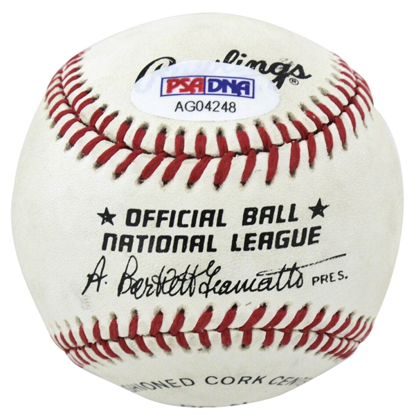 Ronald Reagan Signed Presidential-Era OAL (Giamatti) Baseball (PSA/DNA)