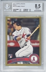 Mike Trout 2011 Topps Update Gold /2011 Rookie Card Beckett/BGS 8.5!